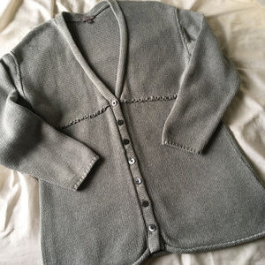 J. Jill gray cotton cardigan, medium